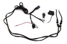 Комплект проводки для подключения 2х дополнительных LED-фар (с пультом ДУ / реле 40А) (redBTR) 804040