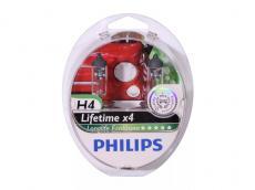 Лампа 12V H4 60/55W Longerlife Eco Vision (комплект 2 штуки) (Philips / Германия) 12342LLECOS2