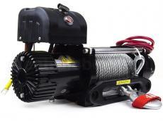 Лебедка 4х4 электрическая 12V 9500LB (металлический трос, дистанционный пульт, проводной пульт, клюз)