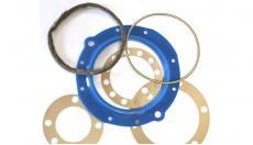 Ремкомплект поворотного кулака (полиуретан) УАЗ мост Спайсер (мост Тимкен гибридный) (комплект сальник, войлок, прокладки) (Rosteko) 3160-2304052